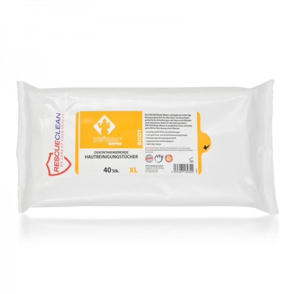 RESCUECLEAN W4 Body-Dekon-Wipes, 40er Soft-Pack