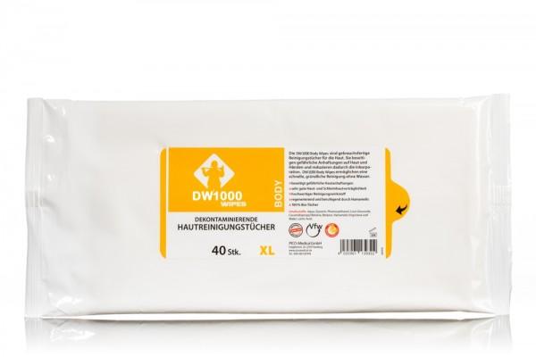 RESCUECLEAN W4 Body-Dekon-Wipes, 40er Soft-Pack