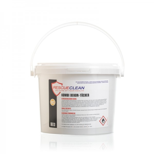 RESCUECLEAN W3 Power-Dekon-Wipes